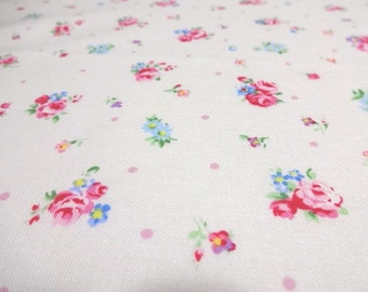 Japanese Fabric English Garden Puchi Flower Offwhite Fat Quarter