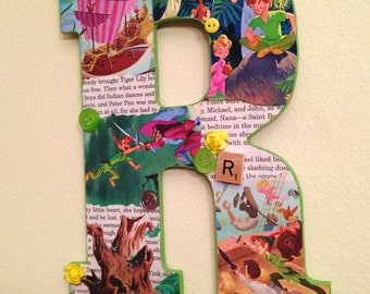 Custom Peter Pan Letter - Disney Wooden Letter custom made