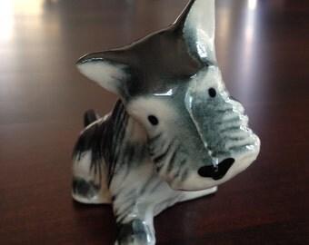 Scottish Terrier Porcelain Dog Vintage  Scottie