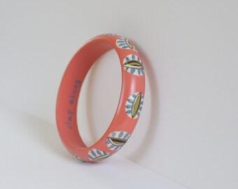 Hand Painted Coral Clap Along Bracelet