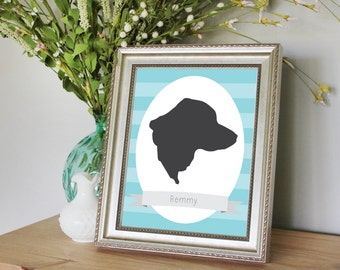 Custom Dog Silhouette Portrait
