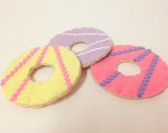 Felt Pretend Play Food Party Ring Biscuits