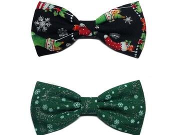 Christmas Hair Bow, Small Hair Bow, Christmas Bow for Girls, Teens, Adults, Mini Hair Bow, Hair Bow for Christmas