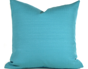 Indoor Outdoor Pillow Covers ANY SIZE Decorative Pillows Turquoise Pillow Richloom Outdoor Forsythe Pool