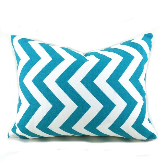 Lumbar Pillow Decorative Pillow Cover Pillows Home Decor Premier Prints Zigzag Chevron True Turquoise