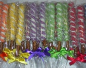 RESERVED for Karen / Pretzel Rods Bright and Beautiful Rainbow of Colors Chocolate Covered Pretzel Rods