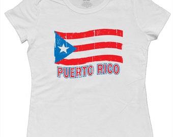 Ladies t-shirt / Puerto Rico Flag