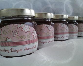 Bridal Shower Party Jam Favors/ 5 Jam Gift Set/ Pink Baby Shower Favors/ 4 Oz Ea/Holiday Gift Pack