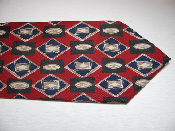 Vintage Jos A Bank Tie Executive Collection 100 Silk