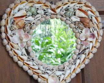 Love You Seashell Mirror (Heart Shape)