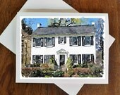 Custom Watercolor House Notecards-Mothers Day Father's Day Wedding Gift Idea-Set of 8-As Seen in Better Homes and Gardens
