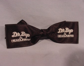 1980s Band Promotional Item Bow Tie Marked Dr. Bop and the Headliners