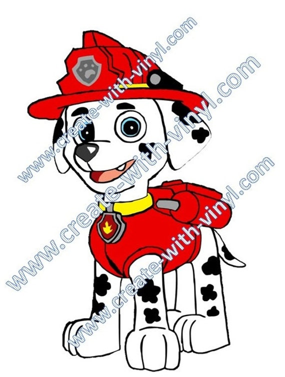 Paw Patrol - Marshall - Fire Dog - SVG Cameo, Cricut, Embroidery ...