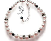 Black and White Bracelet, Prom Bracelet, Wedding Jewelry, Black and White Jewelry, Elegant Bracelet, Formal Jewelry, Prom Jewelry