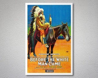 Before the White Man Came Movie Poster - Poster Paper, Sticker or Canvas Print