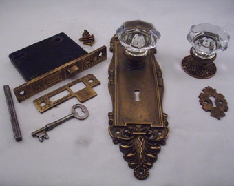 Rim Lock Door Knob Set Blw And With Dead Bolt Key 1863 By