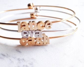 name bracelet // silver or gold