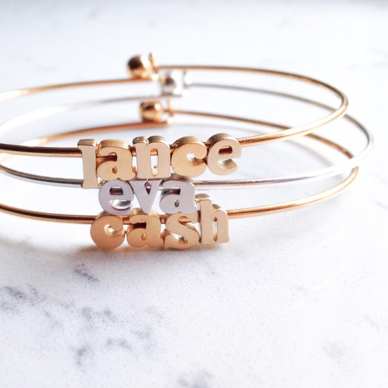 name bracelet // silver or gold