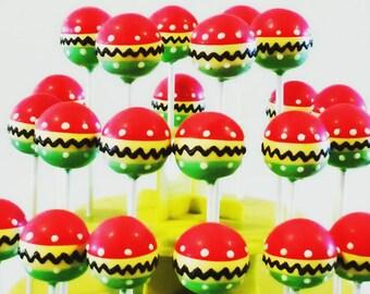 Fiesta cake pops
