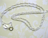 SS Sterling chain Silver chain  jewelry supplies SS chain