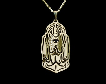 Bloodhound jewelry - Gold pendant and necklace