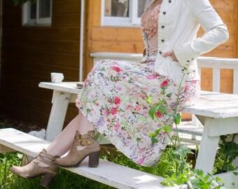 Sewing Pattern Women's A-Cut Skirt  - PDF