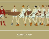 Cornell Crew Team ROWING Ivy League Digitally Remastered Fine Art Print / Poster