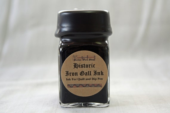 Iron Gall Historic Calligraphy and Drawing Ink, 1 oz