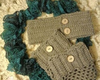 Sashay Scarf with Head Warmer and Boot Cuffs