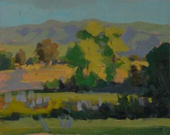 Peaceful - Plein Air - Original Oil Painting - California - Santa Barbara - Greenery - Nature - Rural - Farm - Land - Outdoors - Trees