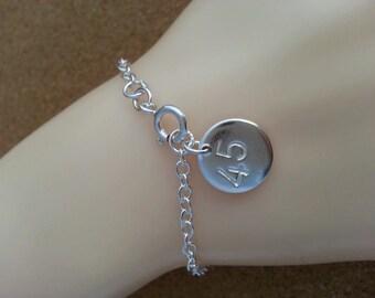 Scotland Referendum Bracelet 55 Silver Bracelet Hand stamped Silver Jewellery 45 Silver Bracelet
