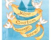 "HP Custom ""Owl Message"" Art Print"