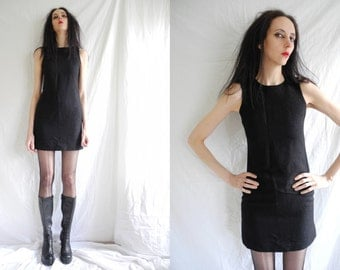 90's vintage Versus Versace black/sparkly shift mini dress