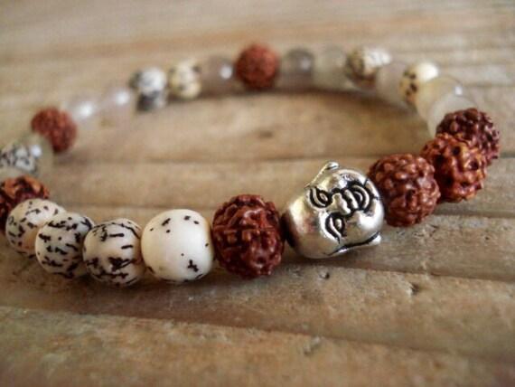 Buddha Bracelet, Spiritual Jewelry, Mala Bracelet, Meditation Bracelet, Women's Bracelet, Mens Bracelet, Zen Bracelet, Yoga Bracelet