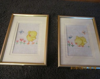 Pair of Chicks Nursery Pictures