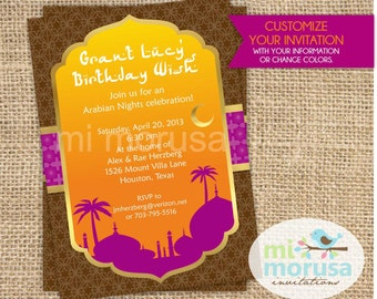 Arabian Nights Inspired Invitation