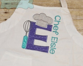 Chef Alphabet Embroidery Applique Design