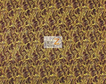 "100% Cotton Fabric By Punch Studio For Hoffman California - Explorer Brown - 45"" Width Sold By The Yard (FH-1450)"