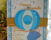 Cinderella Birthday Invitation | Princess Birthday Invitation | Cinderella Invitation | Princess Invitation
