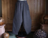 Plus sizes - US 18 - 32, UK 20 - 34 , jeans pants/trousers European Layering Look , black- white