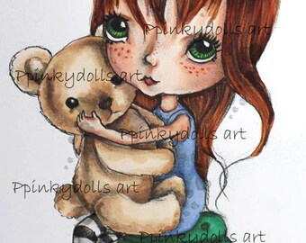 "INSTANT DOWNLOAD Digital Digi Stamps..by Chrishanthi's art,Sweet bear"""