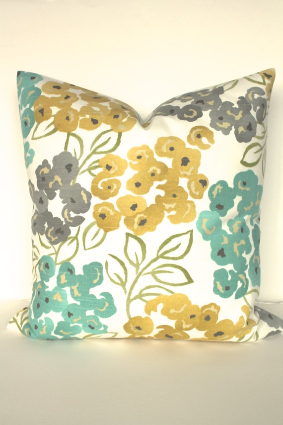 Turquoise PILLOWS Turquoise Teal Decorative Throw Pillow Cover