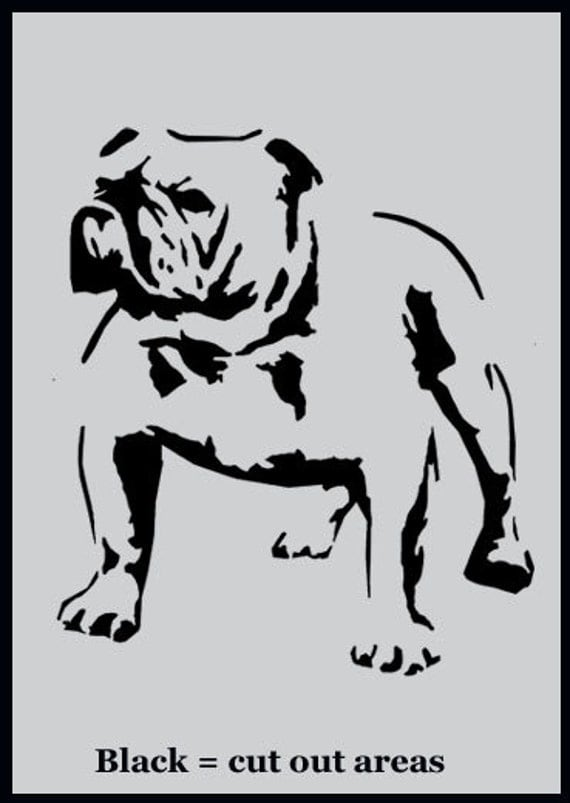 bulldog stencil british bulldog art stencil painting stencils paint english 8636