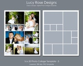 16 x 20 Photo Collage Template - 3