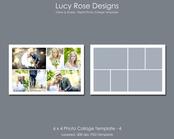 6 x 4 Photo Collage Template 4