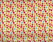 Happy Harvest fabric Fall leaves and acorns  - Riley Blake - by the YARD