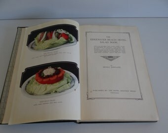1926 Edgewater Hotel - A Book of Salads - Great Cookbook - Recipes - Color Photos - Chicago Edgewater Beach Hotel - Chicago Cookbook