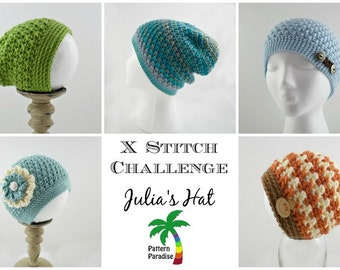 Crochet Pattern for Beanie Slouchy Hat, PDF 15-177 INSTANT DOWNLOAD