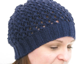 Beanie Hand Knit Lace