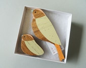 Wooden Wall Birds - Mother & baby sets
